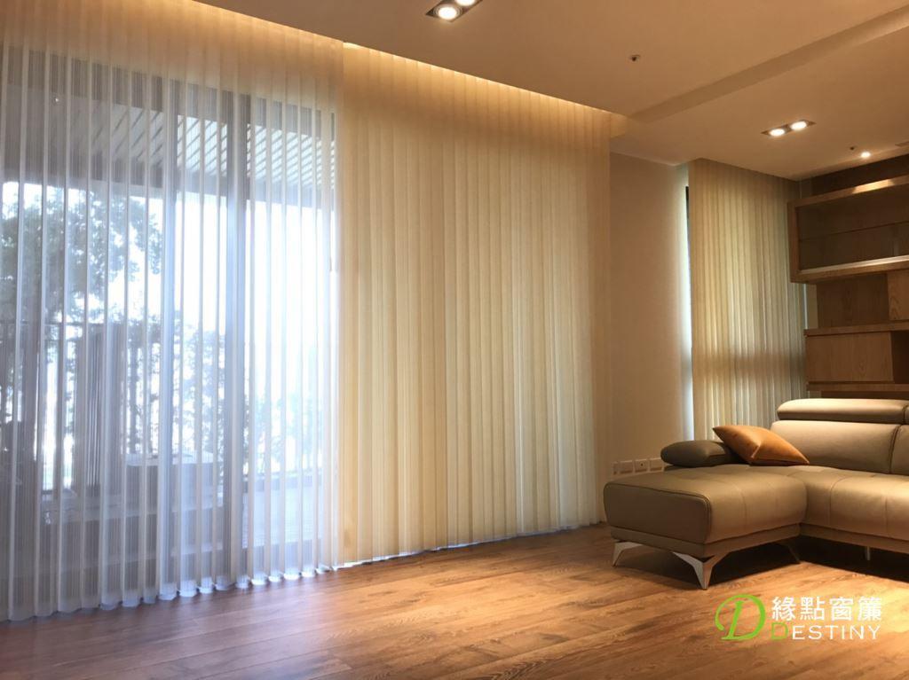 台中窗簾-直立柔紗簾
